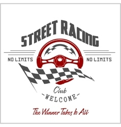 Street Racing club badge and design elements vector image vector image