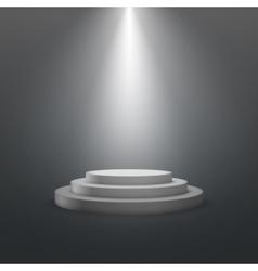 empty white stage podium vector image