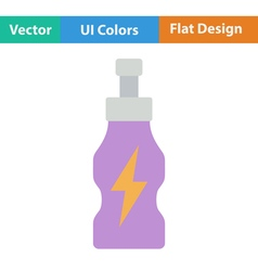 Flat design icon of Energy drinks bottle vector image