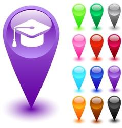 Graduation button vector image