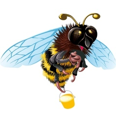 Happy Bee vector image