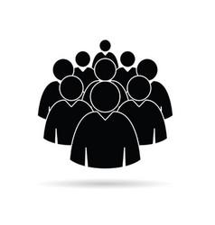 man set icon in black color vector image