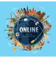 online logo design template Internet or vector image vector image