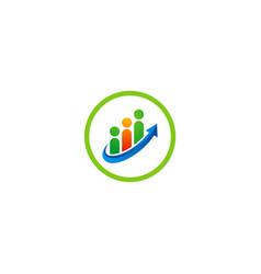 people team work business logo vector image
