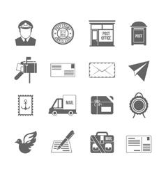 Post service icon black vector image vector image