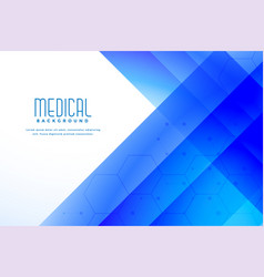 Abstract blue medical healthcare background vector