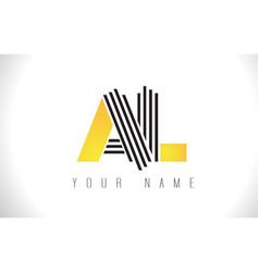 al black lines letter logo creative line letters vector image