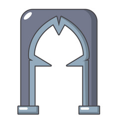 Archway villain icon cartoon style vector