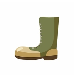Army boots icon cartoon style vector