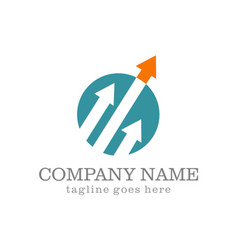 arrow up business company logo vector image