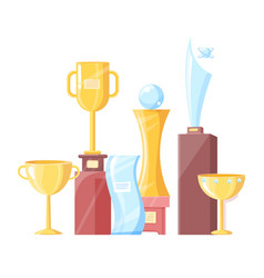awards set recognition icons vector image