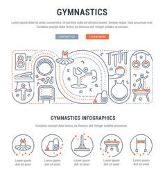 Banner gymnastics vector