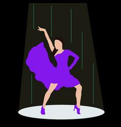 beautiful woman dancing in vector image
