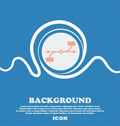 Bezier curve icon sign blue and white abstract vector