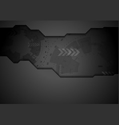 Black concept abstract hi-tech background vector