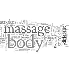 body massage vector image