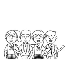 Boys and girls school design vector
