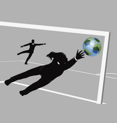 business man soccer concept vector image