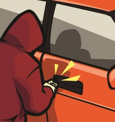 Car theft vector