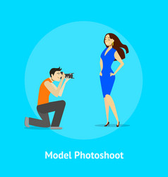 cartoon professional photographer and fashion vector image