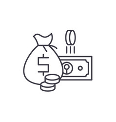cash money line icon concept cash money vector image