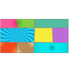 Comic book page colorful horizontal template vector