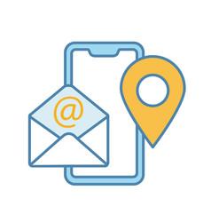 contact information color icon vector image