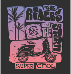 cool scooter shirt print design vector image