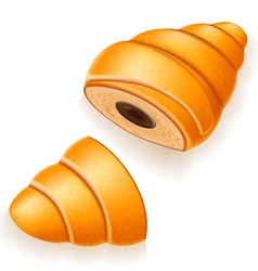 croissant 17 vector image