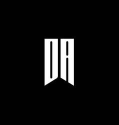 da logo monogram with emblem style isolated on vector image