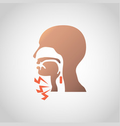 Difficulty swallowing icon design vector
