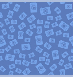 Digital camera icon seamless pattern vector