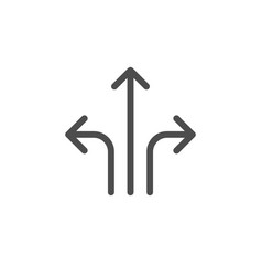 direction arrows icon vector image