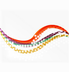 dotted curve waves vector image