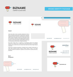 drill business letterhead envelope and visiting vector image
