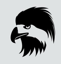 Eagle bird head black silhouette vector