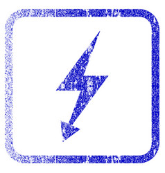 electric strike framed textured icon vector image