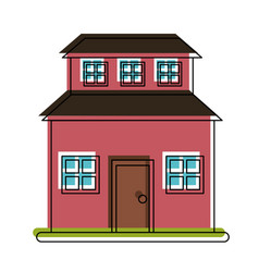 family home or two story house icon image vector image