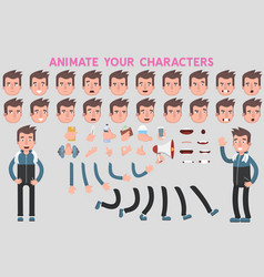 Flat guy character for your scenes vector