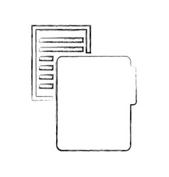 Folder file with paper isolated icon vector