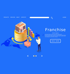 franchise website landing page design vector image