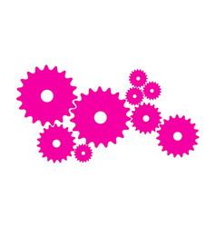 Gears in pink design vector