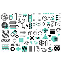 geometric shapes graphic universal memphis style vector image