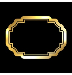 Gold frame simple golden black vector