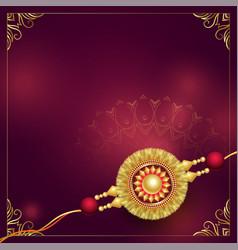 Golden rakhi design with text space vector