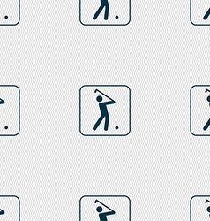 Golf sign Seamless pattern with geometric texture vector image