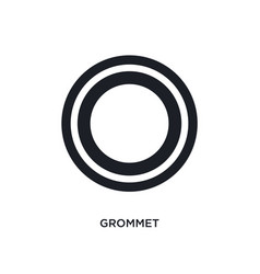Grommet isolated icon simple element from sew vector