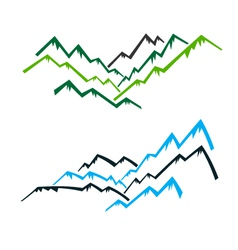 Group of Mountains vector image vector image