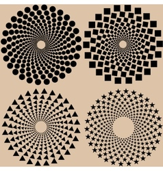 halftone dots pattern set in format vector image