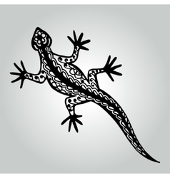 Handdrawing doodle lizard Wildlife collection vector